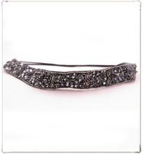 Elegant Rhinestones Beads Sequins Elastic Headband Hair Wrap Fashion Hair Accessories for Women