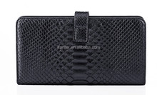 Popular Handcrafted Men Long Wallet Authentic Python Skin OEM ODM