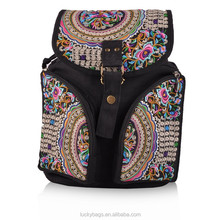 2015 new arrival promotional price school bag canvas vintage backpack