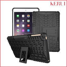 2015 Dual-color 2 in1 kickstand PC and TPU hybrid wholesale custom holster case for ipad mini 3