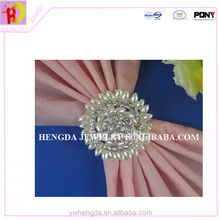 Great mother of New Design Big Pearl Crystal Diamond Napkin Ring
