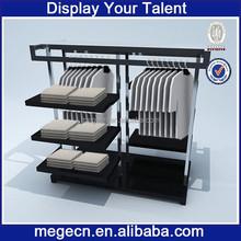 showroom design folding wood display shelf