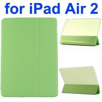 3 Folding Ultrathin Leather Flip Case for iPad Air 2 with Back Crystal Cover