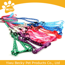 polyester material dog leashes with harness suit S for puppy
