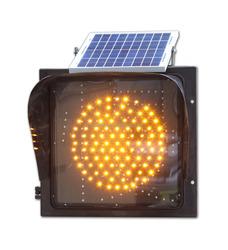 China price solar powered amber LED flashing Beacon
