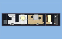 20ft&40ft Modified Container Hotel/Hotel Container for Living Room with CE & ISO Certifications