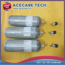 SCBA (Self-contained breathing apparatus) gas cylinder, Carbon fiber scuba tank, 9L high pressure composite gas cylinder