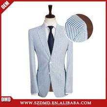 Custom made light azul e listras brancas dos homens para ternos