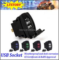 Power DC Dual USB Car Charger Carling ARB Rocker Switches 5V 3.1A Universal 12 - 24V car
