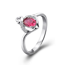 100% 925 Sterling Silver rings hot sale alibaba china gemstone ring