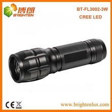 China Factory Custom Made High Power 3watt Aluminum Dimmable led Zoom Flashlight/torch