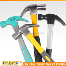 high carbon steel claw hammer with plastic handle