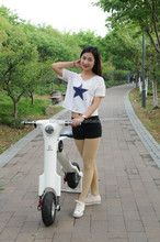 2015 New developed Great Folding 2 wheel Electric Scooter 350W 48V e cycle eletrico patinete