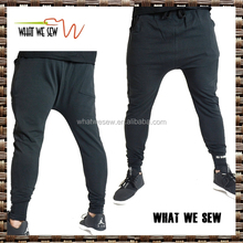 mens fleece french terry pants deep crotch sports pants 2015 best seller fashion pants