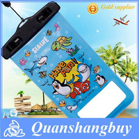 "Universal PVC Waterproof Mobile Bag Cartoon Dry Bag for iPhone 6 4.7"" Plus 5.5"""