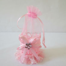 holiday items the butterfly pattern plastic basket bonding lace decoration