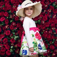 New fashion grils kids wear birthday latyers tutu dress set for kids frock design for girls