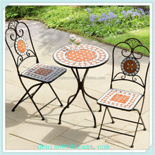Aluminum outdoor furniture 2 chairs sets garden table and chairs sets