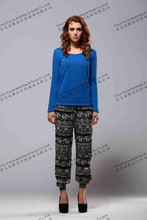 ladies positioning printing leggings,womens digital printing pants elastic bottom trousers