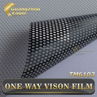 Perforated Outdoor Printing Material Window Film Adhesive Vinyl One Way Vision