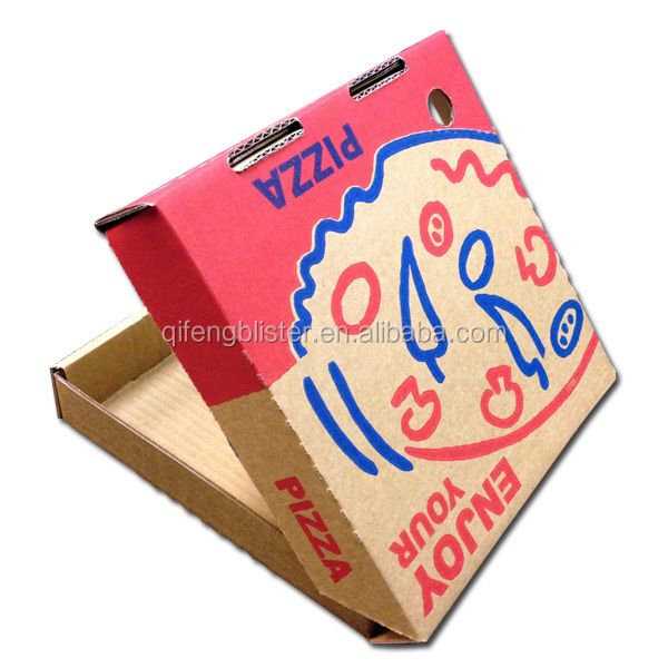 wholesale and custom pizza box ,pizza packing box,2 color printed custom pizza boxes