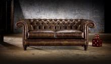 Lavita Furniture English Standard Rochester Chesterfield Leather Sofa Set 1+2+3 or 1+1+3
