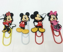 Fancy Decorative Mickey Mouse Figure Rubber Paper Clips
