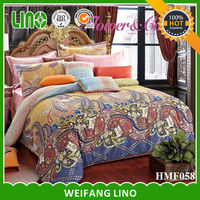 luxury fashion design printed cotton bed sheets