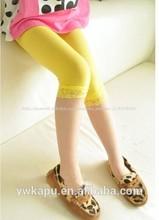 el más reciente de la moda bebé niño ropa leggings de encaje para las niñas