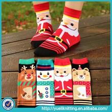 2015 Fashion cotton boy and girl animal cartoon christmas socks