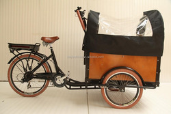 CE china factory dutch style electric cargo bicycle pedal cargo tricycle with cabin