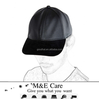 OEM design your own funny black leather short brim plain trukfit snapback cap
