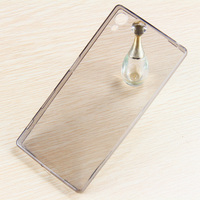 cell phone cover wholesale transparent back clear cover soft tpu mobile phone case for sony z5