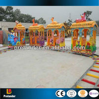 Fashion amusement model rides electric train track 14seats made in china