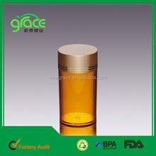 Orange Color Vitamin C Storage Bottle BPA Free Plastic Container