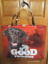 recycled pp woven bag DOG FOOD BAG MARKET TOTE GOOD FRIENDS
