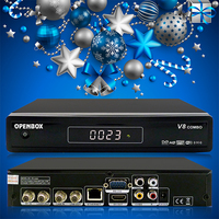 digital mpeg4 satellite receiver v8 Combo stand for tv receiver DVB-S2 & T2 DVB-T2 receiver Ghana with RF output
