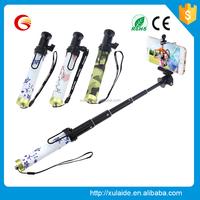 Metal handheld aluminium selfie monopod stick clip optional selfie stick wholesale