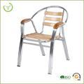 silla de aluminio silla de la cena con polywood