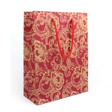 Chinese Style Design Paper Bag with Hot Stamping Gold on Red color