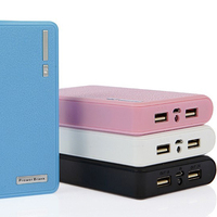 Best pirce Double USB output wallet portable power bank 7200mah for smart phone