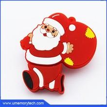 Santa Claus Christmas gifts usb flash drive cute pen drive usb stick promotion