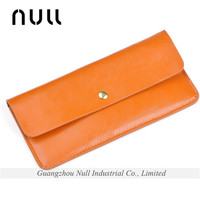 Fashion Colorful Genuine Leather Thin Wallet and Purse for Lady