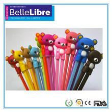 Wholesale animal shape silicone chopsticks for promotion FDA,LFGB