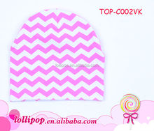 2015 Best-selling high quality coral chevron cotton warm soft baby cap