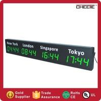 Best Selling LED World Time Zone Clock Digital Multi Zone World Clock