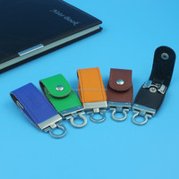 Real Capacity 4GB 8GB 16GB Leather USB 2.0 Flash Memory Stick Pen Drive Business Card usb stick with custom logo