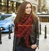 New Lady Blanket Pashmina Cashmere Plaid Cozy Checked Tartan Scarf Wraps shawl