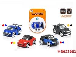 Educational Children Pull Back Toys Diecast Car Model
