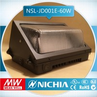 free sample pure white led tunnel light led wall pack, dlc led wall pack meanwell driver 5 years warranty, outdoor ul led wall